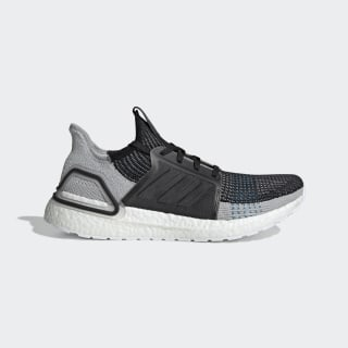 Tênis Ultraboost 19 Core Black / Grey Six / Shock Cyan F35242