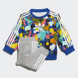 Crew Sweatshirt Set Multicolor / White ED7711
