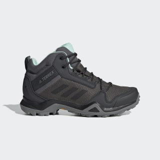 TERREX AX3 Mid GORE-TEX Wanderschuh Grey Five / Core Black / Clear Mint BC0591