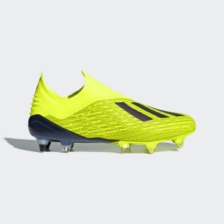 Футбольные бутсы X 18+ SG solar yellow / core black / ftwr white DB2226