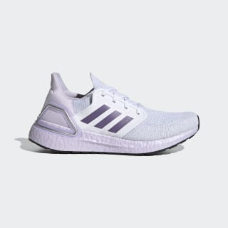 Ultraboost 20 Schoenen Cloud White / Tech Purple / Purple Tint EG0762