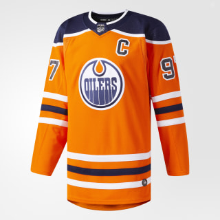 Maillot Oilers Domicile Authentique Pro Orange / Blue CA6919