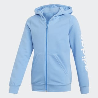 Linear Hoodie Real Blue / White EH6123