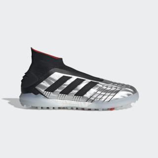 Zapatos de Fútbol Predator TAN 19+ Césped Artificial Silver Metallic / Core Black / Hi-Res Red F35624