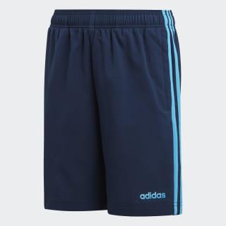 Essentials 3-Stripes Woven Shorts Collegiate Navy / Shock Cyan DV1791