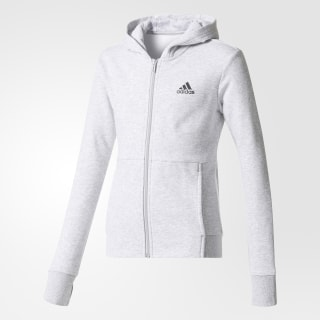Saco con Capucha Sport ID LIGHT GREY HEATHER/TACTILE ROSE F17/BLACK CF1233