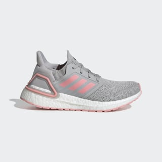 Ultraboost 20 Shoes Grey Two / Glory Pink / Grey FV5409