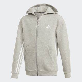 Толстовка Must Haves 3-Stripes Medium Grey Heather / White ED6475