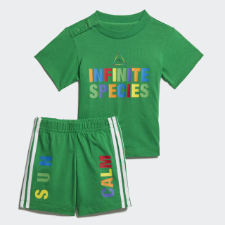 Pharrell Williams Tee Set Green FR9068