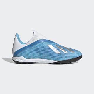 Zapatos de Fútbol X 19.3 Césped Artificial Bright Cyan / Silver Metallic / Shock Pink EF0632
