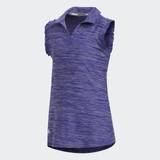 Space-Dyed Sleeveless Polo Shirt Night Flash FI8658