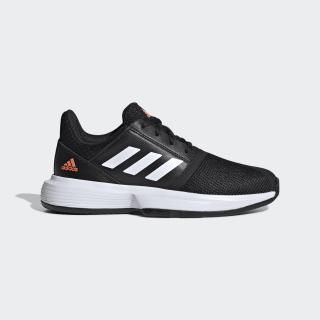 CourtJam Shoes Core Black / Cloud White / Hi-Res Coral EF0611