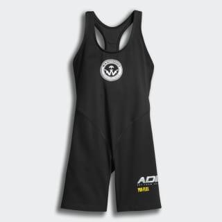 Комбинезон Alexander Wang 80s Bodysuit black / white / eqt yellow ED1182
