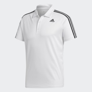 DESIGN TO MOVE POLO 3 STRIPES White BK2602