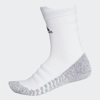 Alphaskin Traxion Lightweight Cushioning Crew Socks White / Black CG2674