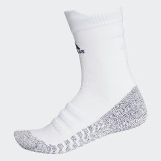 Chaussettes mi-mollet Alphaskin Traxion Lightweight Cushioning White/Black CG2674