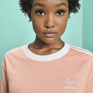 Camiseta 3 Rayas Dust Pink DV2583