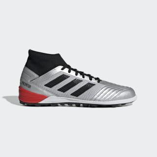 Botas de Futebol Predator TAN 19.3 – Piso sintético Silver Met. / Core Black / Hi-Res Red F35629