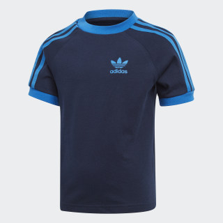 Playera 3 Stripes collegiate navy/BLUEBIRD EJ9371