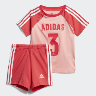 Комплект: футболка и шорты Sport Glow Pink / Core Pink / White FM6383