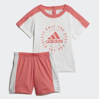 Комплект: футболка и шорты Summer white / prism pink DV1261