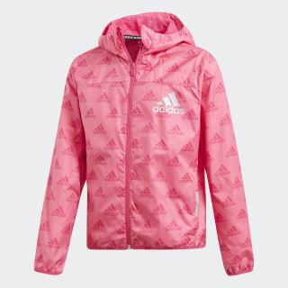 Cortavientos con capucha Must Haves Semi Solar Pink / Real Magenta DV0329