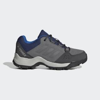 Детские кроссовки для хайкинга Terrex Hyperhiker Low Leather Grey / Grey / Tech Indigo EF2535