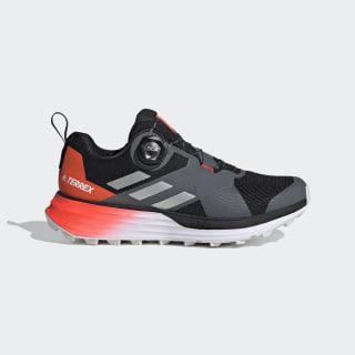 Terrex Two Boa Trail Running Schoenen Core Black / Silver Metallic / Solar Red EH0082
