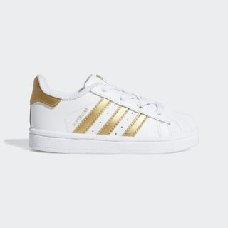 Superstar Shoes Cloud White / Gold Metallic / Blue B39401