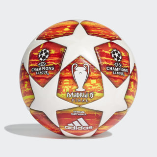 Balón Oficial final UEFA Champions League 2019 White / Active Red / Scarlet / Solar Red DN8685