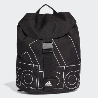 Flap Backpack Black / White / Black FK0524