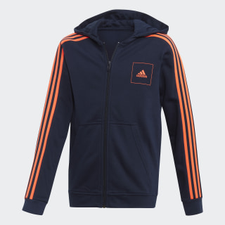 Sweat-shirt à capuche adidas Athletics Club Collegiate Navy / Collegiate Navy / App Solar Red FL2816