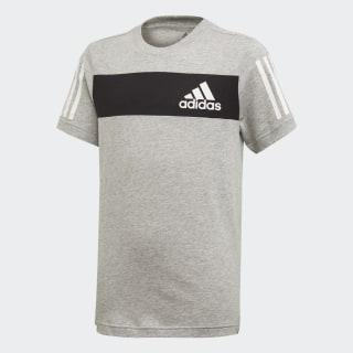 Tričko Sport ID Medium Grey Heather / Black / White ED6502