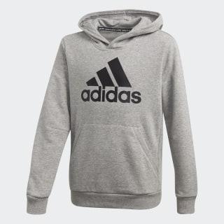 Sweat-shirt à capuche Must Haves Badge of Sport Medium Grey Heather / Black FM6465