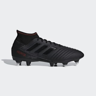 Bota de fútbol Predator 19.3 césped natural húmedo Core Black / Core Black / Active Red G26981
