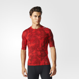 Playera Techfit Base Graphic PRINT/SCARLET BK1197