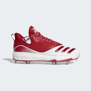 Icon V Cleats Cloud White / Power Red / Silver Metallic G28248