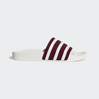 Adilette Slides Collegiate Burgundy / Cloud White / Off White BD7574