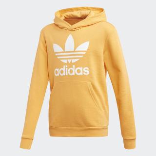 Trefoil hoodie Real Gold / White ED7815