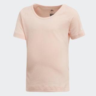 Camiseta Algodón Little Girls HAZE CORAL/WHITE DJ1524