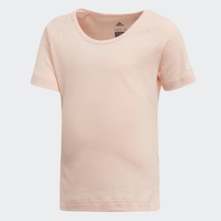 Little Girls Cotton Tee haze coral / white DJ1524