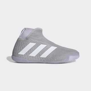 Stycon Laceless Hard Court Shoes Grey Two / Cloud White / Purple Tint EF2696