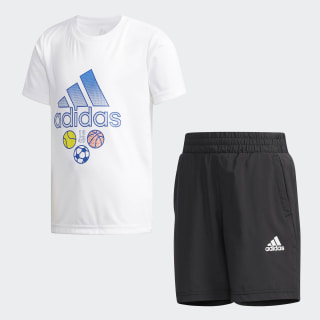 Conjunto Polera y Shorts LB SS CL TEE SE white / collegiate royal DW4110
