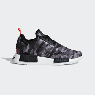 NMD_R1 Shoes Grey Four / Grey Four / Solar Red G27947