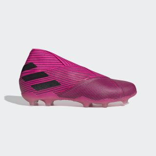 Bota de fútbol Nemeziz 19+ césped natural seco Shock Pink / Core Black / Shock Pink F99959