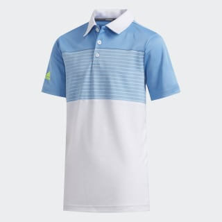 Engineered Stripe Polo Shirt Light Blue FI8708