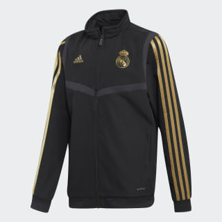 Real Madrid Presentation Track Top Black / Dark Football Gold DX7862