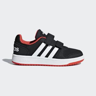 Hoops 2.0 Shoes Core Black / Cloud White / Hi-Res Red B75960
