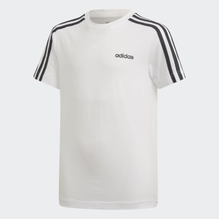 Camiseta Essentials 3-Stripes White / Black DV1800
