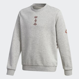 Large Logo Sweatshirt Medium Grey Heather / Scarlet FT8823